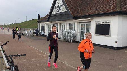 Runners pass the beach cafe along the seafront at Gorleston during last Saturday's parkrun. Picture:
