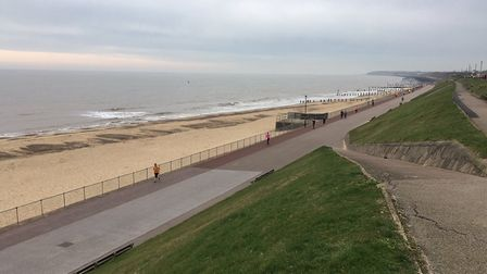 I do like to be beside the seaside: the scene of last Saturday's Gorleston Cliffs parkrun, Picture: