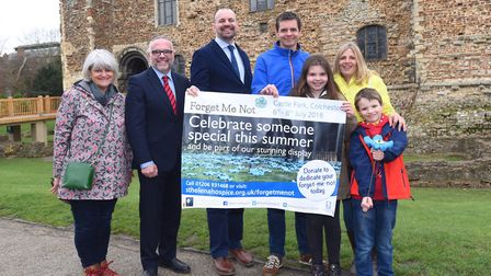 St Helena Hospice launches its Forget Me Not project which it is bringing to Colchesters Castle Par