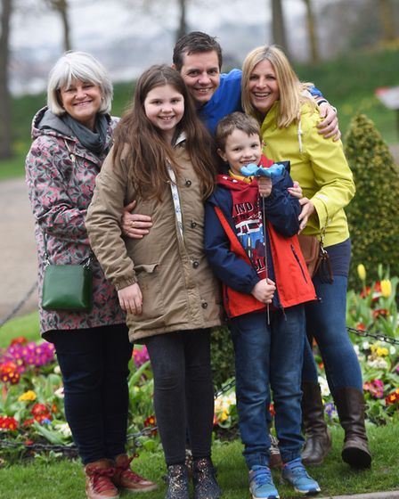 The Stokes family are supporting the Forget Me Not project that St Helena Hospice is bringing to Col