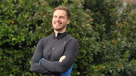 Rob Harvey, from Hadleigh, is attempting to run from Lands End to John O'Groats in the fastest time