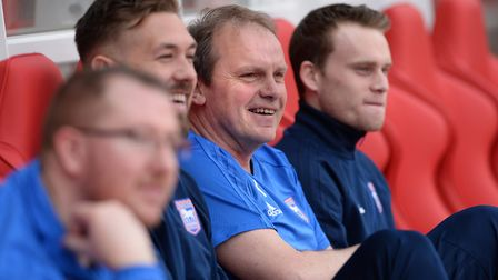 Ipswich caretaker manager Bryan Klug is relaxed before kick-off at Nottingham Forest Picture Pagepix