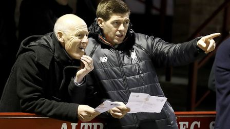 Steven Gerrard is currently in charge of Liverpool's Under-18s. Photo: PA