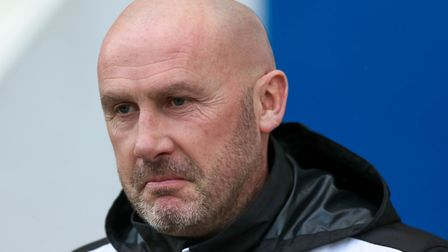 Colchester United head coach John McGreal is looking to get the better of Exeter. Picture: STEVE WAL