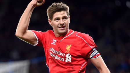 Steven Gerrard made more than 500 appearances for Liverpool and was capped 114 times by England. Pho