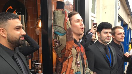 Joey Essex outside the German Doner Kebab shop in Ipswich Picture: RUSSELL COOK