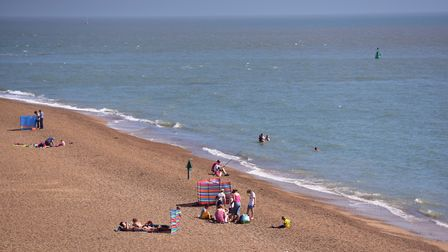 People basking in sunshine in Felixstowe. Picture: SARAH LUCY BROWN