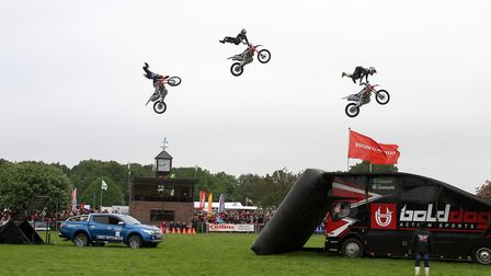 The Bolddog Lings Freestyle Motocross team will be in action at the Suffolk Show. Picture: SIMON PAR