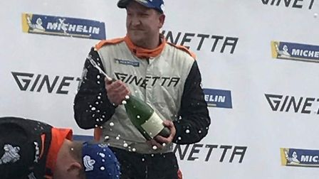 Carl Boardley, taking first place in the third race at Brands, Photo: SUPPLIED