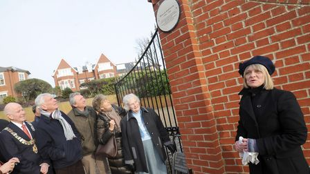 Pat Todd, the designer and creator of the unveiled plaque honouring where Wallis Simpson stayed in F