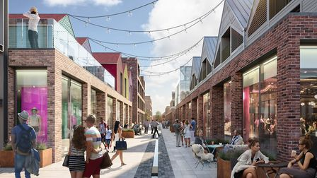 A CGI of how the reinstated Vineyard Street could look, facing east. Picture: COLCHESTER BOROUGH COU