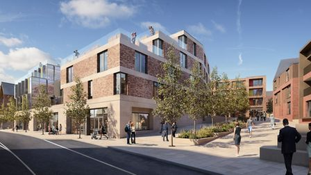 A CGI of the view towards Osborne Street. Picture: COLCHESTER BOROUGH COUNCIL