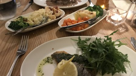 Main courses at Cleone's at The Angel Hotel, Halesworth. PICTURE: Archant