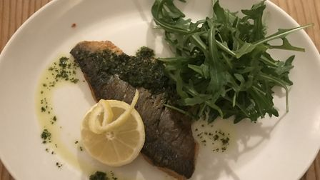 Fillet of bream at Cleone's at The Angel Hotel, Halesworth. PICTURE: Archant
