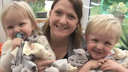 Julie Francis developed the Find Me comforter after her eldest son, who was a poor sleeper as a baby