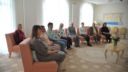 Meditation at the Maharishi Peace Palace in Rendlesham. Picture: SARAH LUCY BROWN