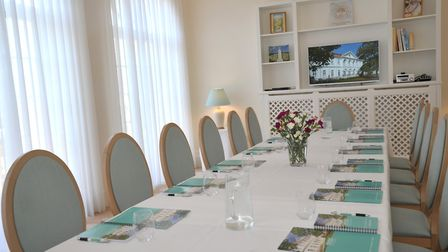The board room for meetings at the Maharishi Peace Palace. Picture: SARAH LUCY BROWN