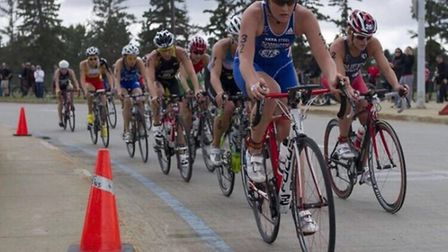 Abbie Thorrington competing on bike during a pro-competition.