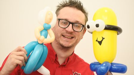 Sam Stamp-Dod has won two awards for his balloon making. Picture: GREGG BROWN