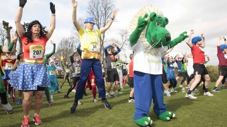 Comic Hero run in aid of St Helena Hospice on Sunday at Colchester Castle Park. Comic Hero run in