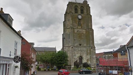 The St Michael's bell tower in Beccles, which has been undergoing restoration. Picture: GOOGLE MAPS