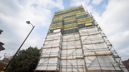 Beccles Bell Tower undergoing major renovations. Picture: NICK BUTCHER