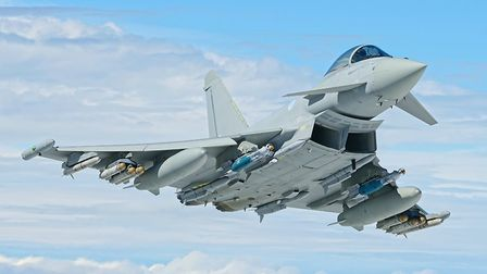 RAF Typhoon. Picture: TENDRING DISTRICT COUNCIL