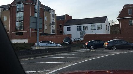 A car has ploughed through a wall in Colchester. Picture: RACHEL MCCROSSAN