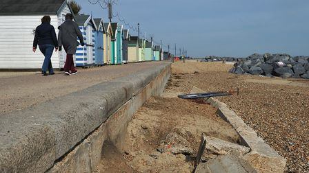 Beach huts on Felixstowe prom will not be placed on the beach this year due to the erosion on the be