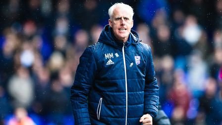 Town manager Mick McCarthy furious with the linesman during the Ipswich Town v Millwall (Sky Bet Cha