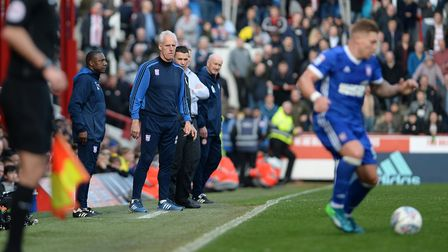 Mick McCarthy on the touchline at Brentford Picture Pagepix