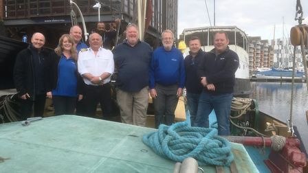 Owners and crew of Orwell Lady, Sailing Barge Victor and the Allen Gardiner River Cruise Restaurant
