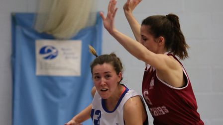 Amy Linton in action for Ipswich Women against Cardiff. Photos: NICK WINTER