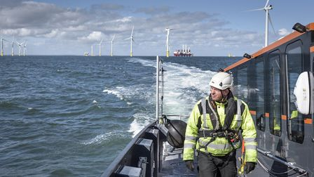 A CWind tranfer vessel returning from an offshore wind farm. Parent company Global Marine Group has