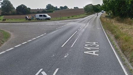 The crash happened in the A134 Horkesley Hill near Nayland at the junction for Park Road. Picture: G