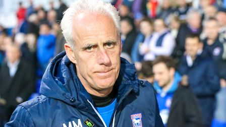 Town manager Mick McCarthy pictured ahead of the Ipswich Town v Barnsley game. Picture: STEVE WAL