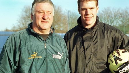 Malcolm Webster and James Pullen at Portman Road in 2000.