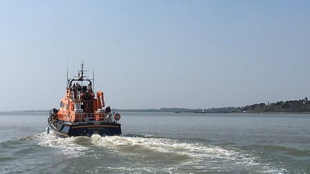 The Harwich RNLI on a shout. Picture: HARWICH RNLI
