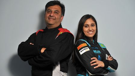 Nabila Tejpar and her father Aziz are due to go head to head at the Corbeau Seats Rally in Clacton o