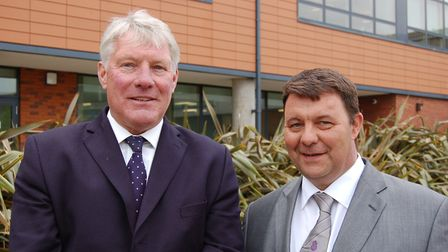 St Edmundsbury leader John Griffiths (left) and Forest Heath leader James Waters. Picture: WEST SUFF