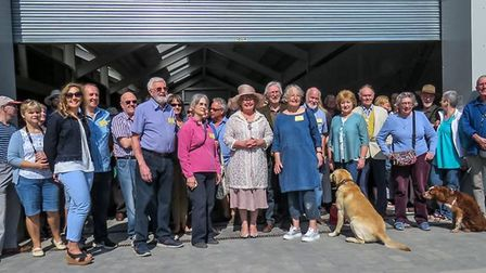 The new and improved longshed was opened by the Mayor of Woodbridge on Saturday. Picture: SUE GARROD