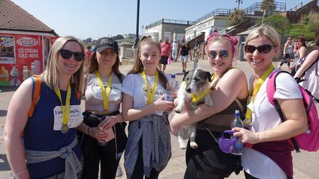 Supporters take on the 2018 Pier to Pier walk between Clacton and Walton for St Helena Hospice. Pict