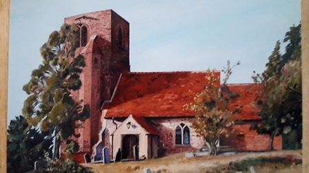 An oil painting stolen from St Andews Church in Abberton. Picture: SUPPLIED BY ESSEX POLICE