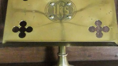 Brass book rest from All Saints Church in Middleton. Picture: SUPPLIED BY ESSEX POLICE