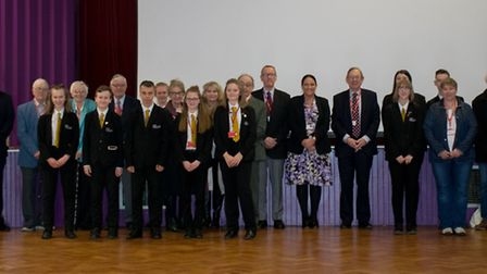 Students and alumni guests at Ormiston Endeavour Academy in Ipswich. Picture: ISIAH JORDAN