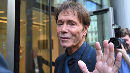 Sir Cliff Richard arrives at the Rolls Building in London this week for the continuing legal action