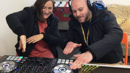 DJs Sophie and Lee, arts and culture education coordinators with Access Community Trust. Picture: SU