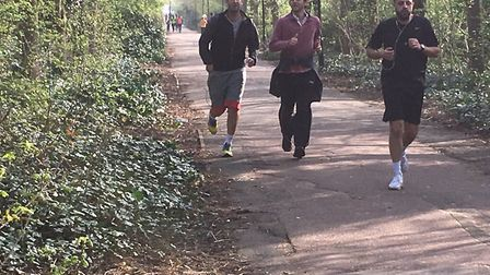 Runners along the out-and-back section at Beckton Corridor during last Saturday's parkrun. Picture:
