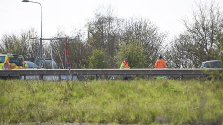 A serious accident has taken place on the A12 between Ipswich and Colchester. Picture: GREGG BROWN