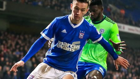 Bersant Celina is back in the Ipswich Town squad after suffering with a virus. Picture: STEVE WALLER
